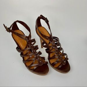 ALDO Leather Sole Heel Sandals